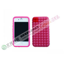 Eco - Friendly Iphone 4 Silicone Cases Cover With Building Blocks Slip For Camera
