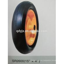 """rueda de goma sólida 15 """"X4"""""""