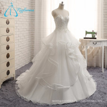 2017 Modern Custom Made Covered Button Wedding Dress Bridal