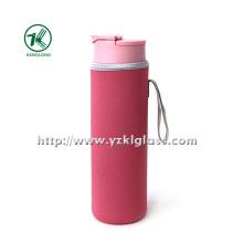 Glasflasche mit Neoprenherstellung Oversleeve PP Deckel,,,