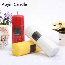 Home Decor Candele 5x5 Pillar Economici Candele Rosse