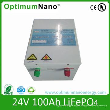 24V 100ah LiFePO4 batteries pour l'énergie du système solaire