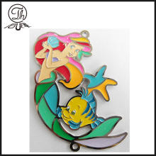 Gold Painted iron Mermaid laminated bookmarks