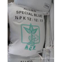 NPK (12-12-17 + 2MGO) avec SGS Test Report incluant l'inspection Heavy Metal