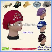 El mundo de la fábrica popular 2013 sombreros lanudos del sombrero del knit de la manera para las mujeres, LSW15