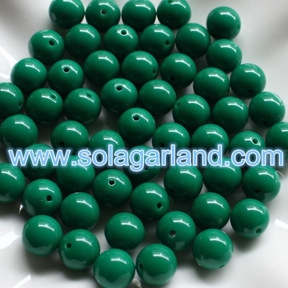 Acrylic Round Loose Beads