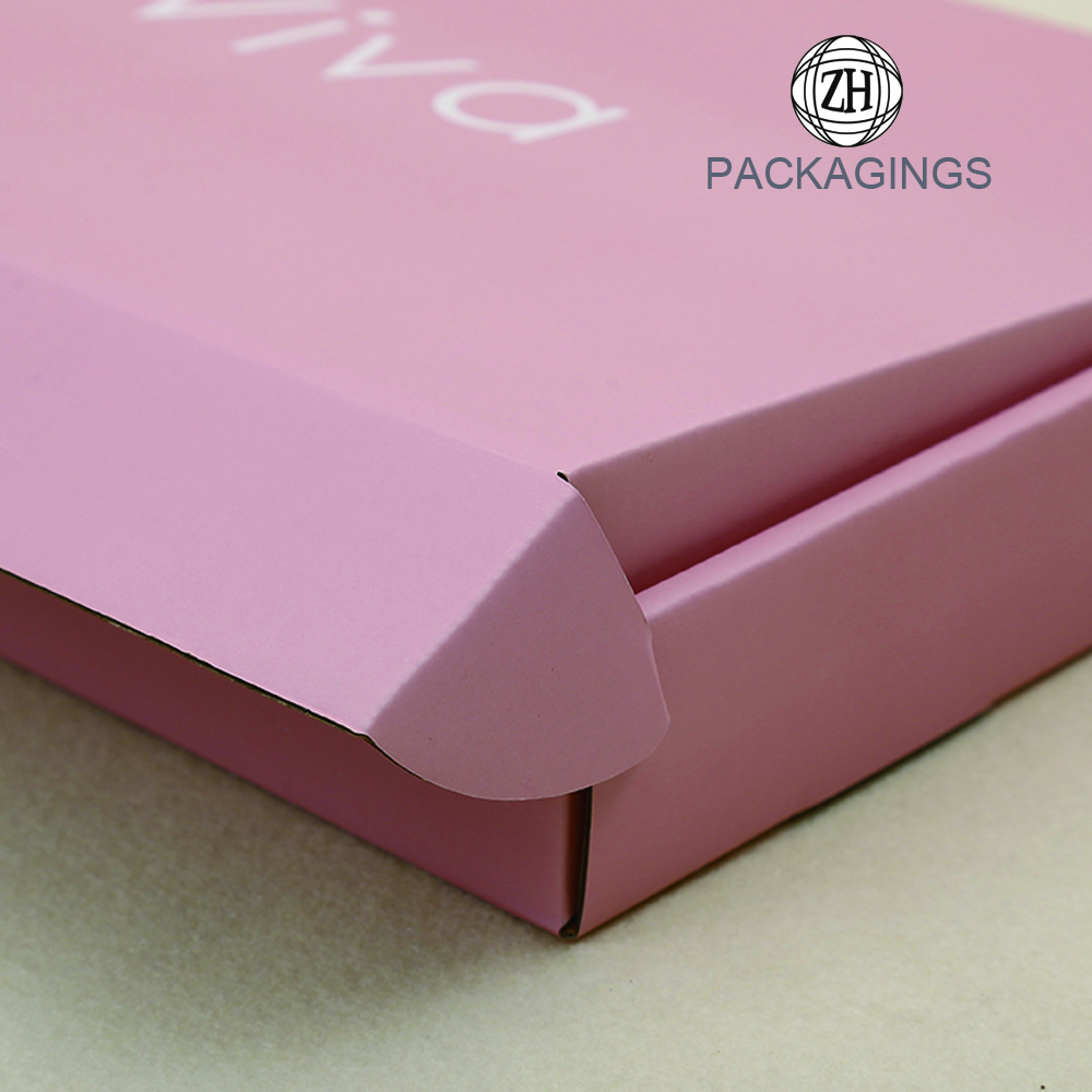 Pink color apparel packaging box for shipping