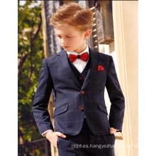 Elegante muchacho Inglaterra estilo de alta calidad partido elegante trajes de niño de la flor