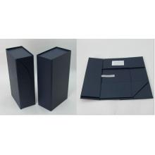 Caja especial plegable de cartón para embalaje de botellas de vino
