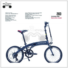 Rear drive aluminum folding electric bike