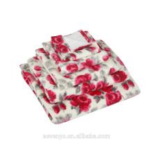 Toalha de Rosa pintada personalizada de alta qualidade 600GSM, folha HTS-138 do banho por atacado