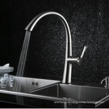 Novo modelo Gooseneck Pull out Kitchen Sink Mixer