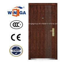 Popular Europ Security Metal MDF Wood Veneer Armored Door (W-A4)