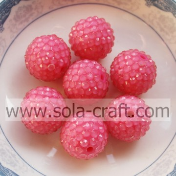 Fabbrica prezzo 18 * 20mm rosa Rose fluorescenza resina strass perline