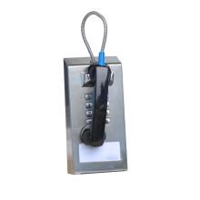 Cordon en acier inoxydable Out-the-Top Heavy Duty Jail Phone pour tous les types d'utilisation publique