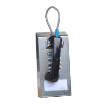 Stainless Steel Cord Out-the-Top heavy duty Jail Phone for all kinds of public use