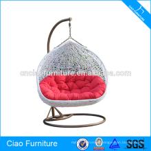 Cadeira de suspensão de vime dobro exterior da mobília exterior