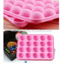 Fábrica quente da venda de China que produz o molde redondo do Lollipop do silicone