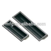 Customized size plastic black pulling flush pane handles