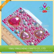 Crystal сердце форму стикер украшения прекрасный декор для девочек