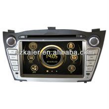 Wince 6.0 lecteur multimédia de voiture pour Hyundai IX35 / Tucson avec GPS / Bluetooth / Radio / SWC / Internet virtuel 6CD / 3G / ATV / iPod / DVR