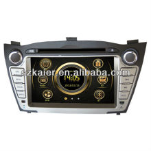Wince 6.0 car media player for Hyundai IX35/Tucson with GPS/Bluetooth/Radio/SWC/Virtual 6CD/3G internet/ATV/iPod/DVR