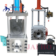 single-pillar hydraulic screen changer with double working position