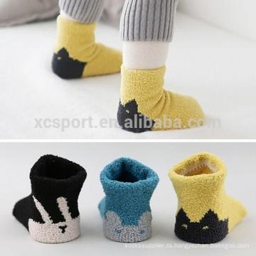 Милые противоскользящие детские носки
