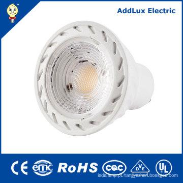 COB GU10 Dimmable 3W 4W 5W 7W luz do ponto do diodo emissor de luz