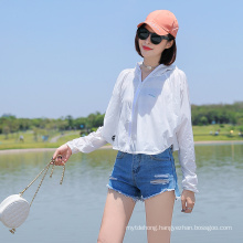 Custom Outdoor Riding Sun Protection Short Clothing Hooded Shirt