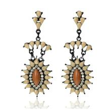 Trendy Bohemia Style Resin Stone Earring (XER13095)