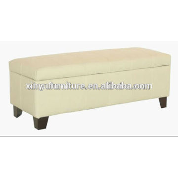 White artifical leather modern ottoman stool XY2468