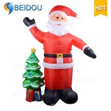 Décoration de Noël gonflable gigantesque Père Noël Santa gonflable Noël