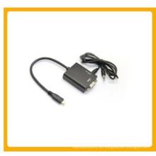 Cable de audio Micro HDMI a VGA + 3.5 mm