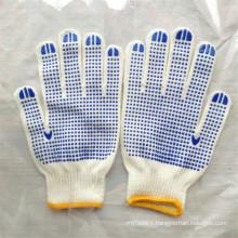 Double Sides PVC Dots Garden Cotton Gloves