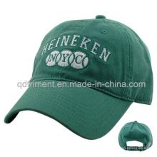 Confortável lavado algodão sarja bordado Golf Sport Baseball Cap (TMB0835)