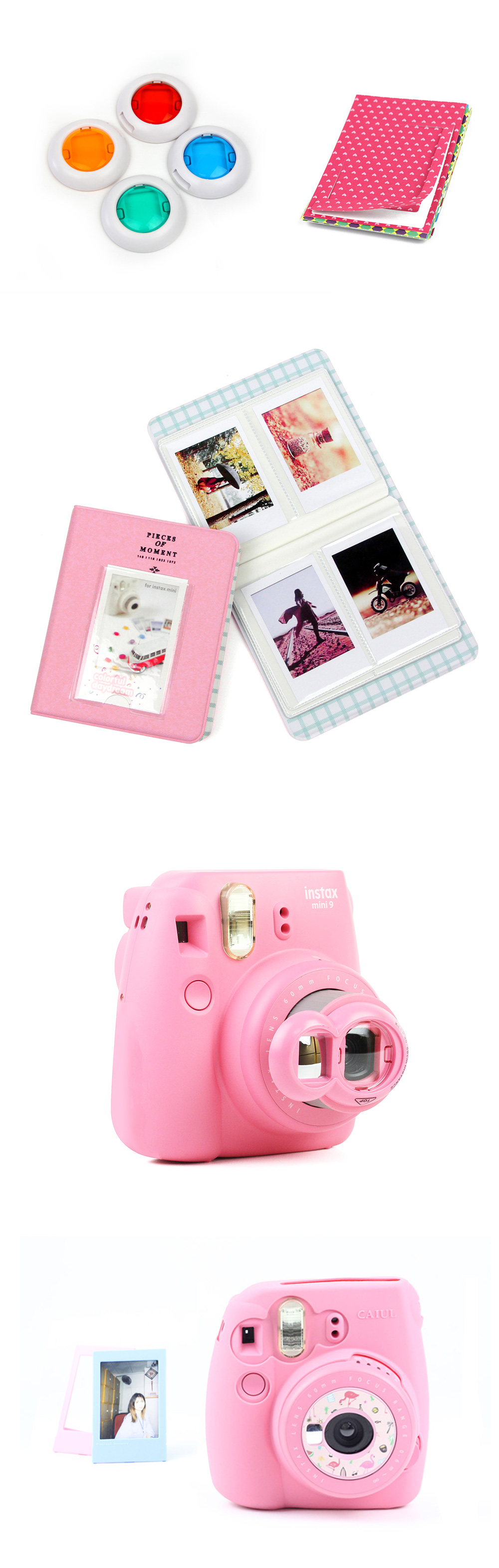 Instax Mini 8 / 9 Siliocn Case Bundle