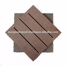 Carrelage composite en plastique en bois antidérapant / imperméable à l'eau / degré élevé de stabilité UV et couleur / facile à installer