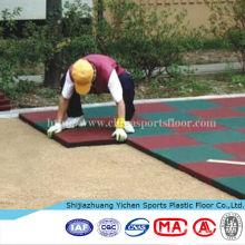 Esteiras de playground de borracha de piso de esportes ao ar livre