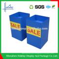 Recyclable cardboard foldable storage cube basket dump bin