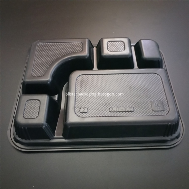thermoformed plastic container