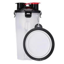 Umweltfreundliche tragbare Wasserflasche für Haustiere, zusammenklappbare Schüssel