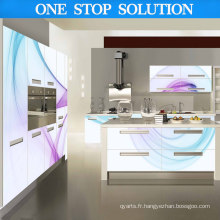 Island Style 3D couleur blanche avec meubles de cuisine (nouveau style)