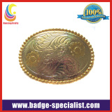 Shiny Gold Plated Belt Buckle/Zinc Alloy Belt Buckle (HS-BB003)