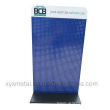 Kundenspezifisches Logo Banner Stahl Struktur Metall Pegboard Display Stand