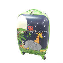 Children PC luggage with animal pattern