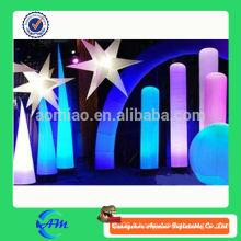 Tube gonflable d'éclairage gonflable colonne lumineuse cône gonflable pour la publicité