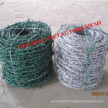Fil de fer barbelé en PVC / galvanisé 2,5 mm (XM-P)