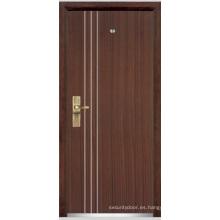 Puerta blindada de madera de acero / puerta blindada de madera de acero (YF-G9010)