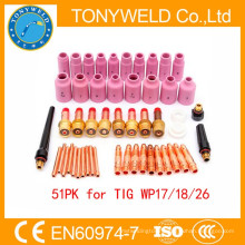 51PK tig spare parts for wp18 /wp17/wp26 tig gas welding torch